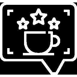 Coffee shop grown help icon